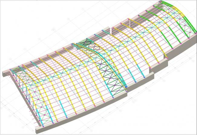 3Д модель атриума