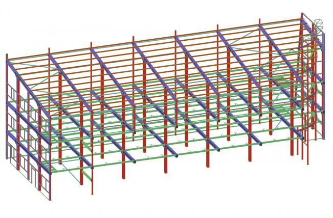 Готова 3Д модель здания