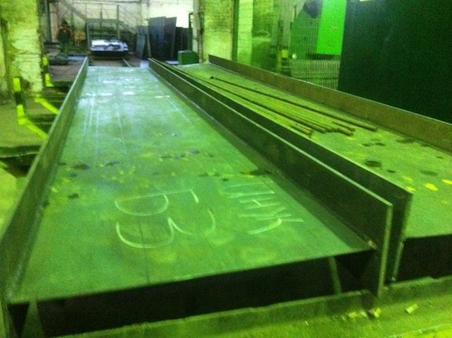 Сварные балки покрытия для промышленного здания.