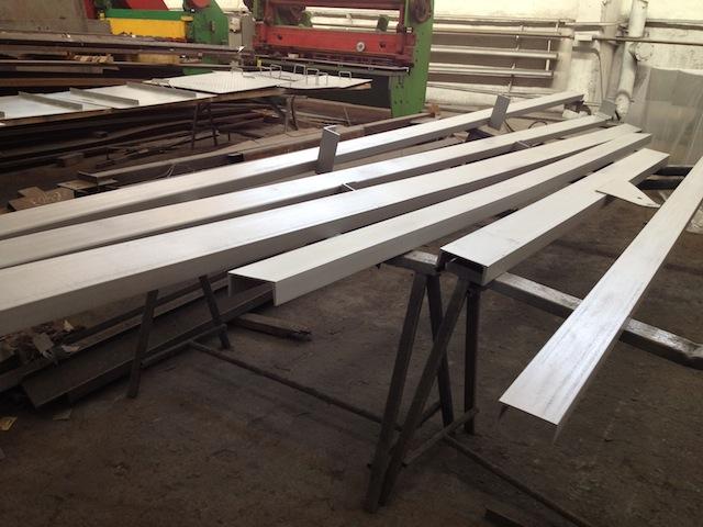 Металлоконструкции цементного завода.