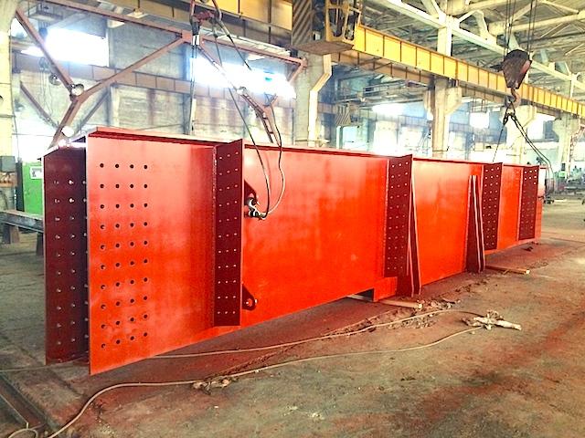 Покрытие балки - грунт ГФ-021 красно-коричневого цвета