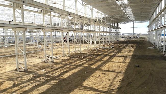 Покрытие - стропильные фермы