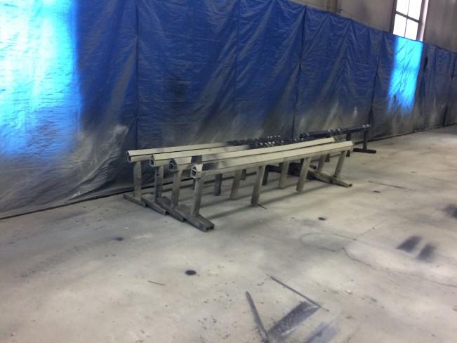 Стапеля для окраски строительных металлоконструкций