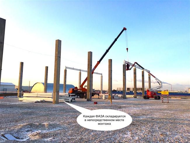 Монтаж строительных металлоконструкций по фазам