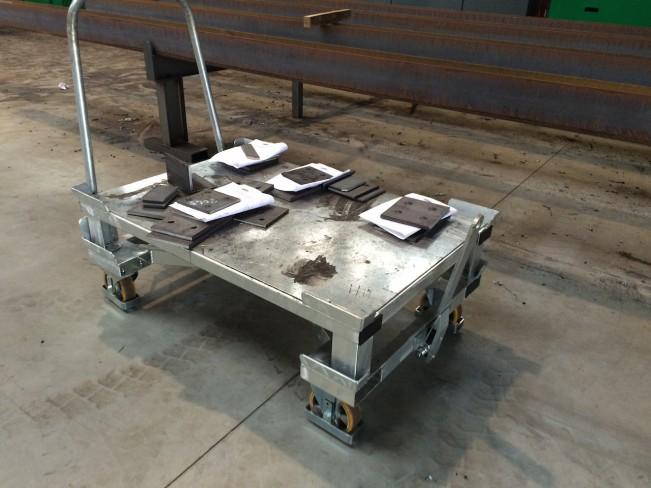Тележка для транспортировки заготовки из листа
