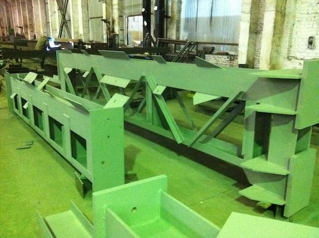 Двухветвевые колонны для технологического оборудования.