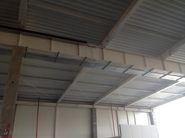 Общий объем отгруженных конструкций на покрытие магазина 640 т