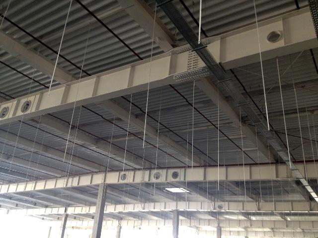 Металлоконструкции для покрытия магазина