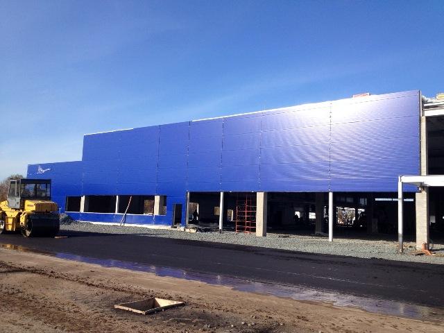 Металлоконструкции для строительства торгового центра