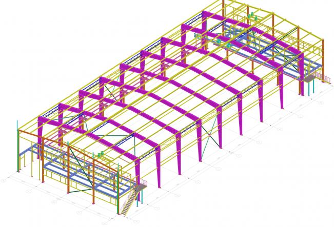 3D модель здания спортсооружения
