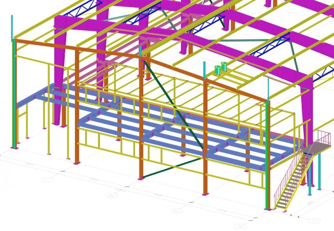 3D модель каркаса здания