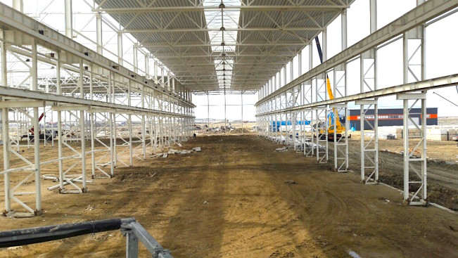 Завод по производству металлоконструкций и сэндвич панелей. г. Атырау, Казахстан